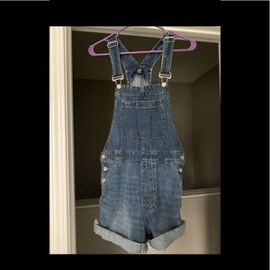 GAP jean shorts over alls. Women's small.